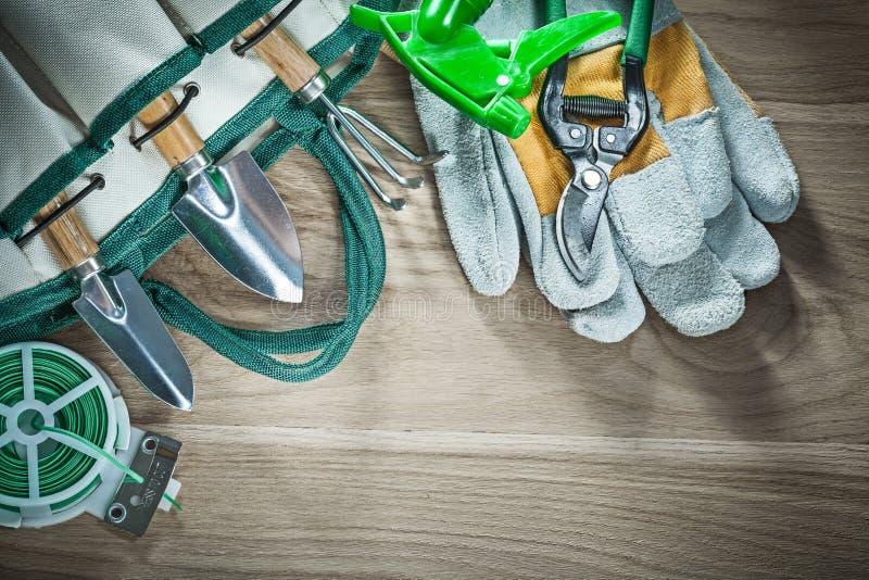 Arbeta i trädgården påsesekatör kratta protectien för tråd för bandet för handspadeträdgården royaltyfri foto