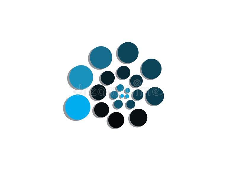 Arbeta som privatlärare åt spiral för symbolslutningvektor cirklar symbol av utvecklingsdesignillustratören vektor illustrationer