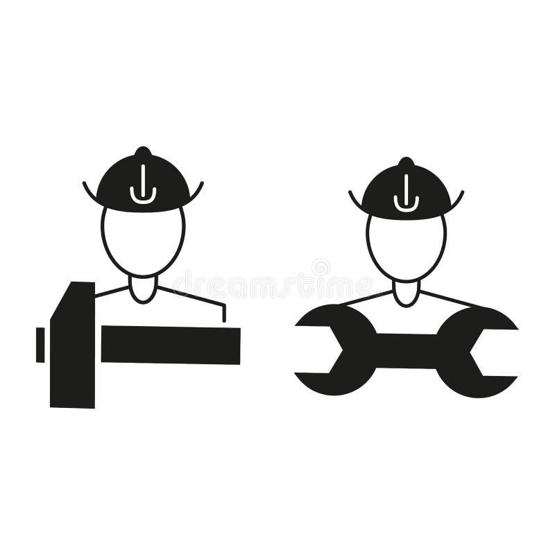 Arbeta symboler arbetedagsverkeet vektor illustrationer