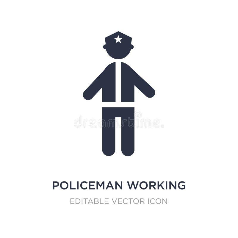 arbetande symbol för polis på vit bakgrund Enkel beståndsdelillustration från folkbegrepp royaltyfri illustrationer