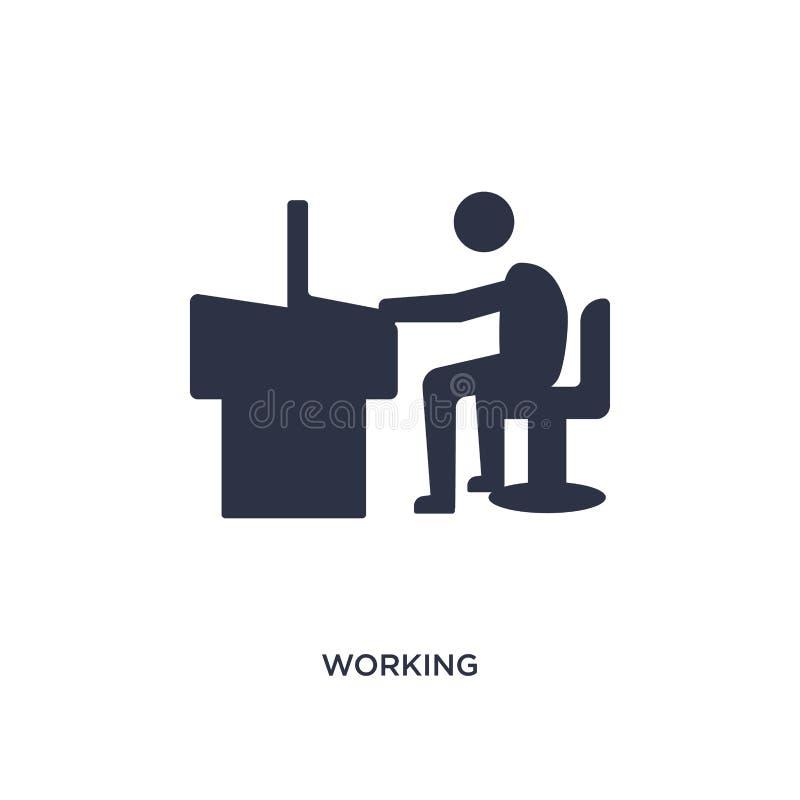 arbetande symbol på vit bakgrund Enkel beståndsdelillustration från personalresursbegrepp royaltyfri illustrationer