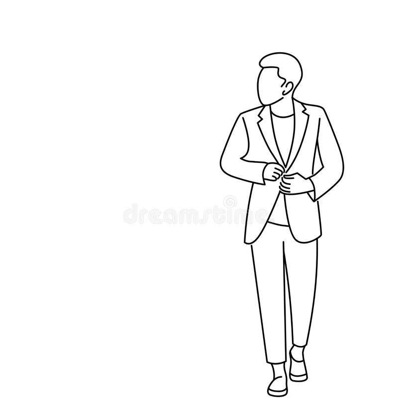 Arbetande teckendesign för affärsman vektor illustrationer