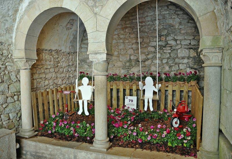Arbetar tillfälligt de Flors Girona royaltyfri foto