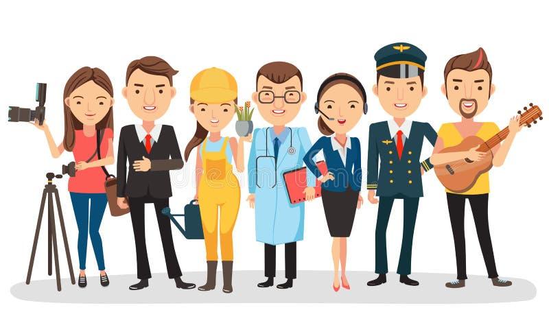 Arbetare royaltyfri illustrationer
