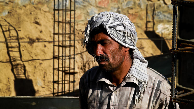 arbetare för afghanistan konstruktionsframsida arkivfoto