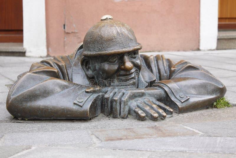 arbetare för bratislava statygata royaltyfri foto