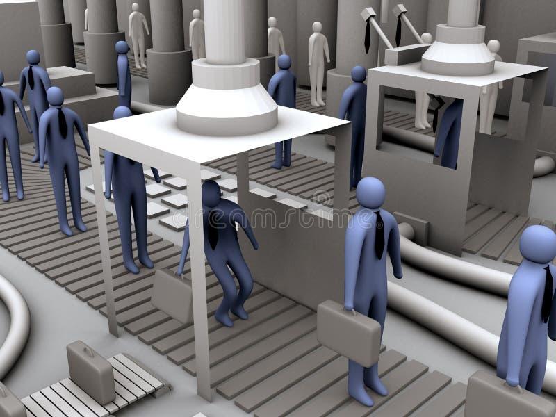 arbetare för fabrik 2 stock illustrationer