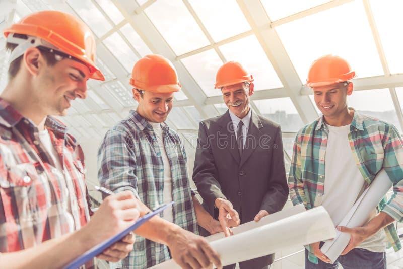 Arbetare för konstruktionsbransch royaltyfria bilder