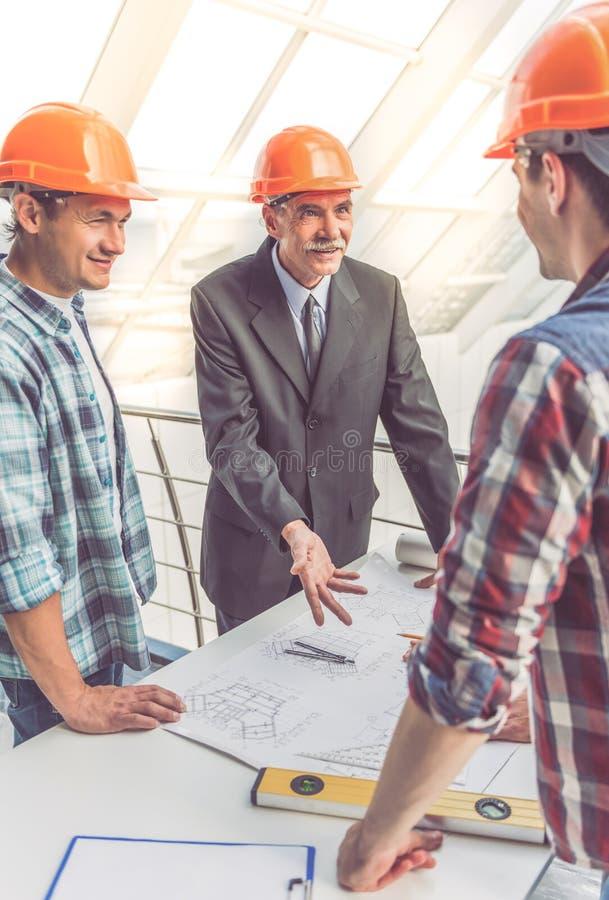 Arbetare för konstruktionsbransch arkivfoto