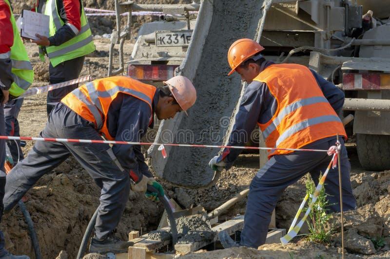 arbetare för konstruktionslokal arkivfoto