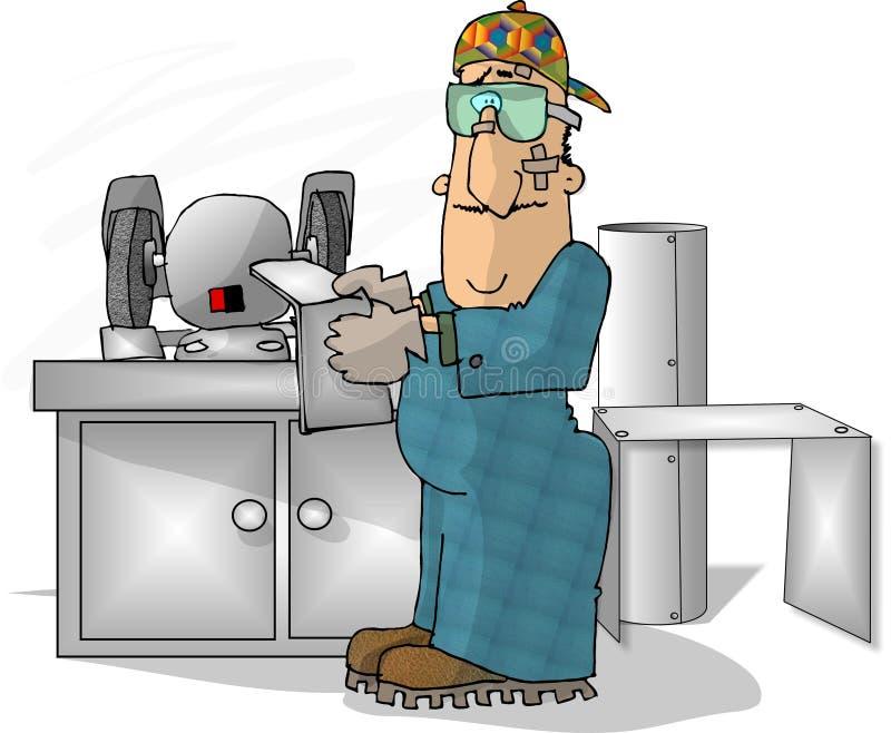 Download Arbetare för metallark stock illustrationer. Bild av stål - 43581