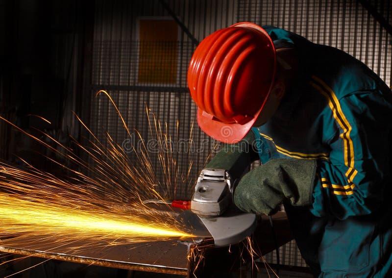 arbetare för tung industri för 02 grinder manuell arkivfoton