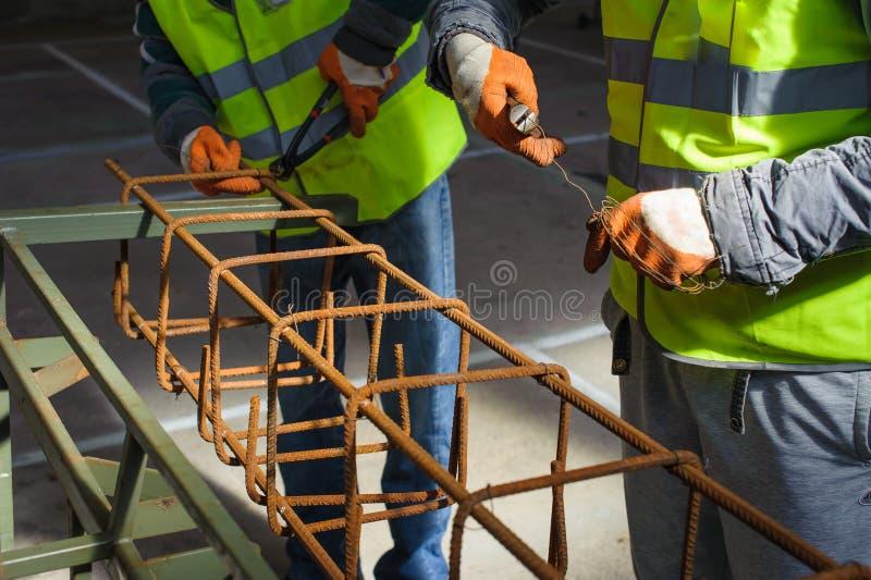 Arbetare på konstruktionsplatsen royaltyfria bilder