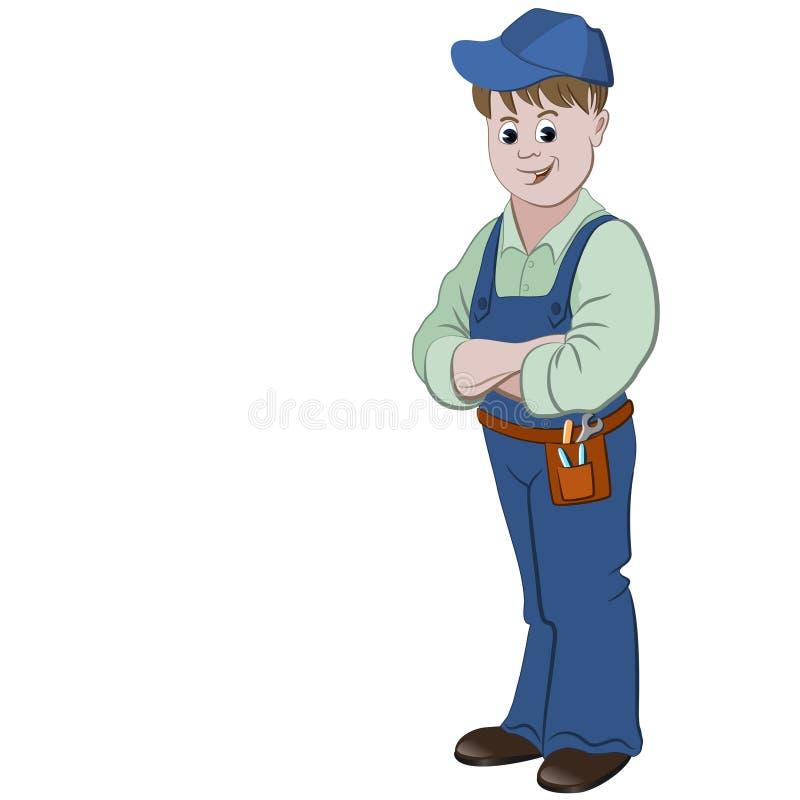 Arbetaren eller faktotumet royaltyfri illustrationer