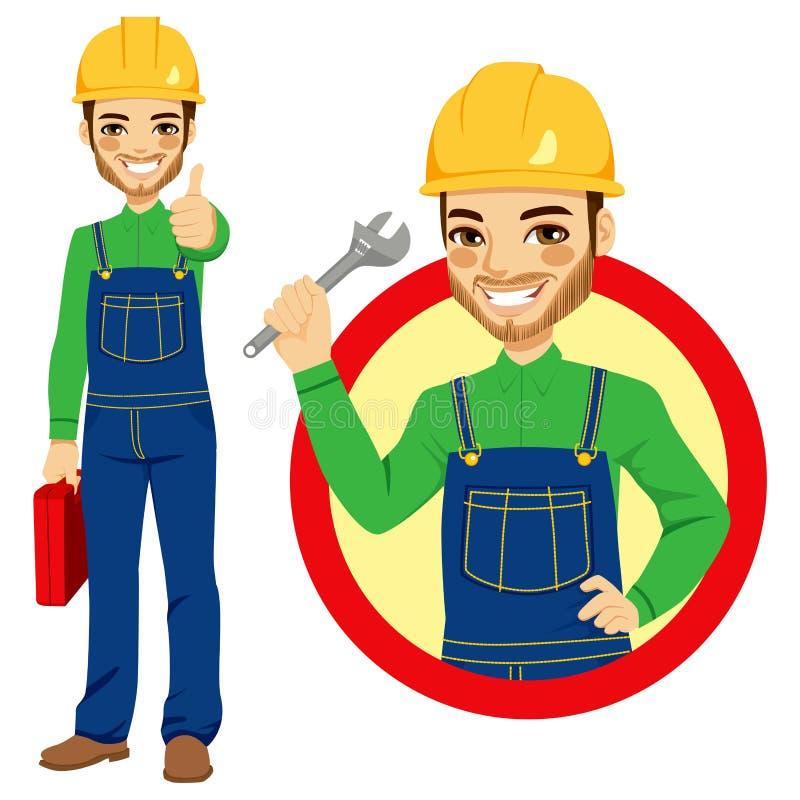 Arbetarinnehavskiftnyckel royaltyfri illustrationer