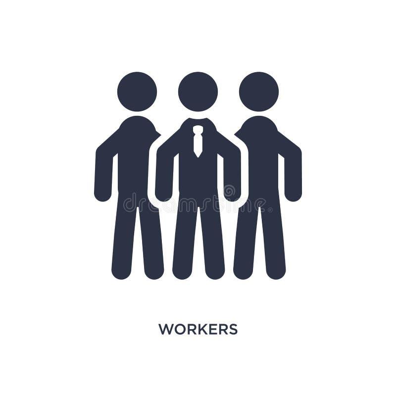 arbetarsymbol på vit bakgrund Enkel beståndsdelillustration från strategibegrepp vektor illustrationer