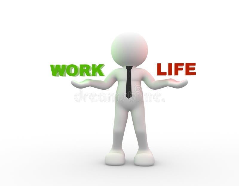 Arbete eller liv stock illustrationer