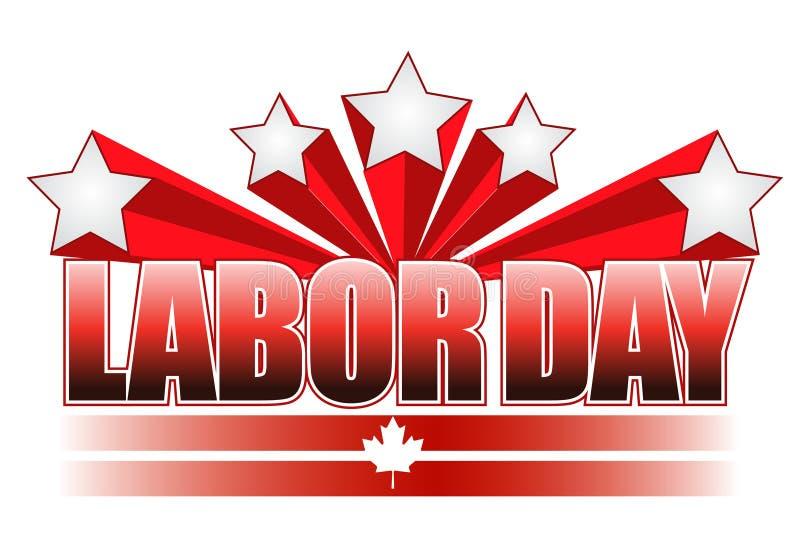 arbete för illustration för Kanada dagdesign royaltyfri illustrationer