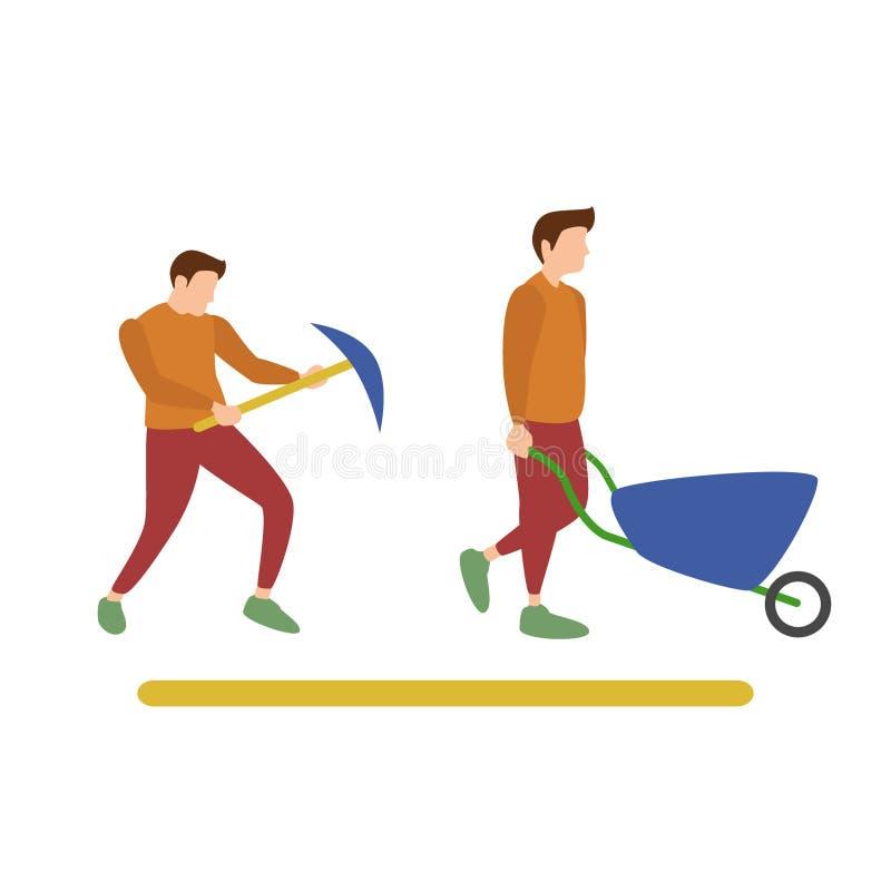 Arbete för mänskliga aktiviteter vektor illustrationer