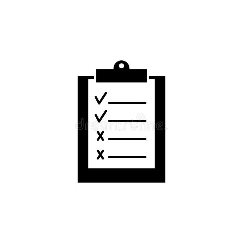 Arbete för svart symbol för arbete för gembräde bra och dåligt vektor illustrationer