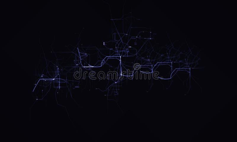 Arbete för Techno elektriskt blixtfotografi royaltyfri illustrationer