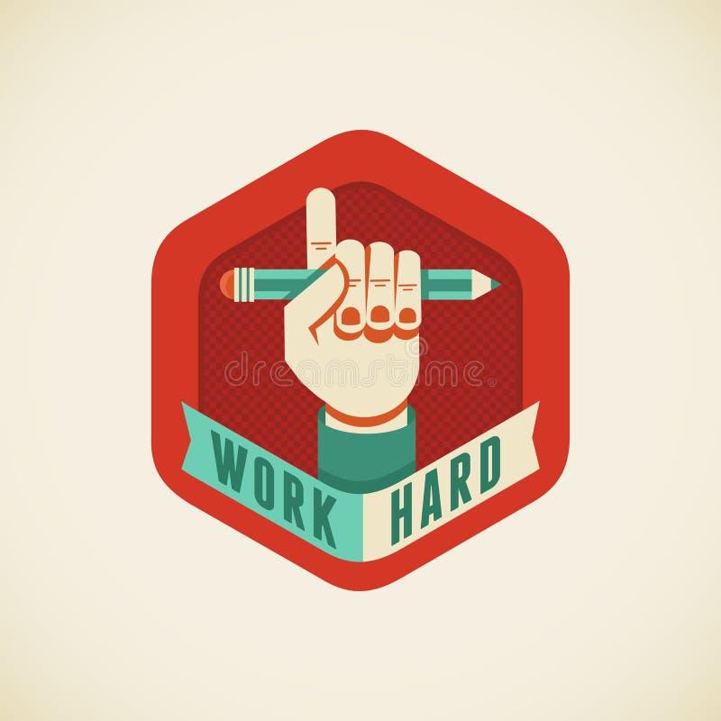 Arbete hårt stock illustrationer