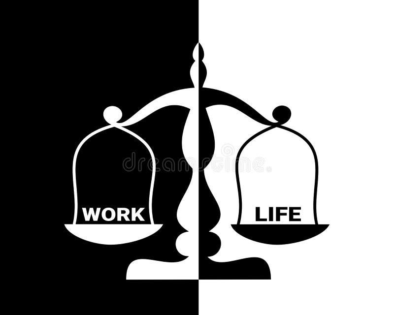 Arbete-liv jämvikt royaltyfri illustrationer