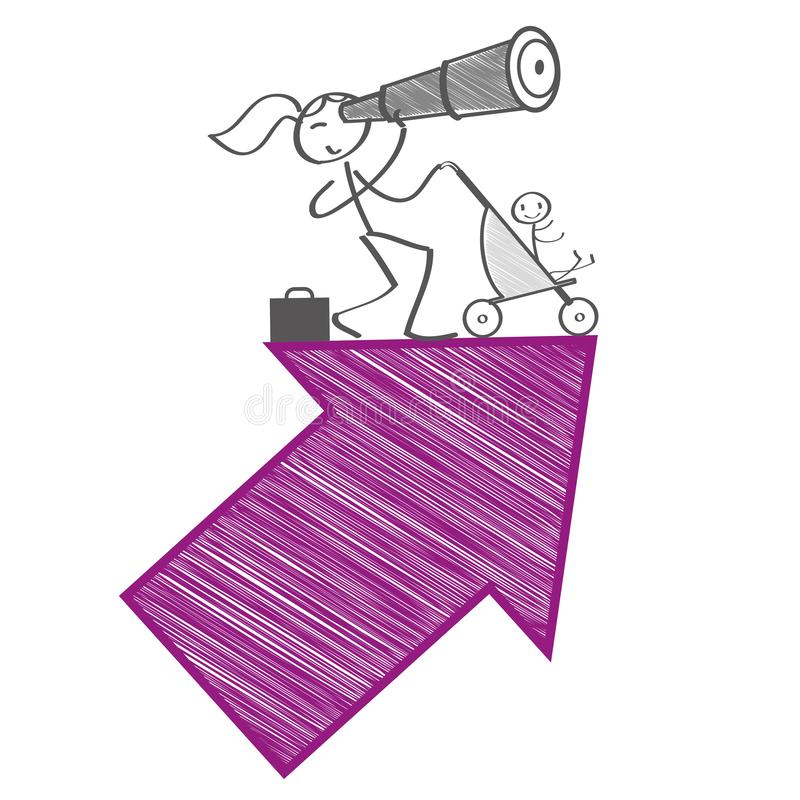 Arbete-Liv-jämvikt - vektorillustrationbegrepp royaltyfri illustrationer