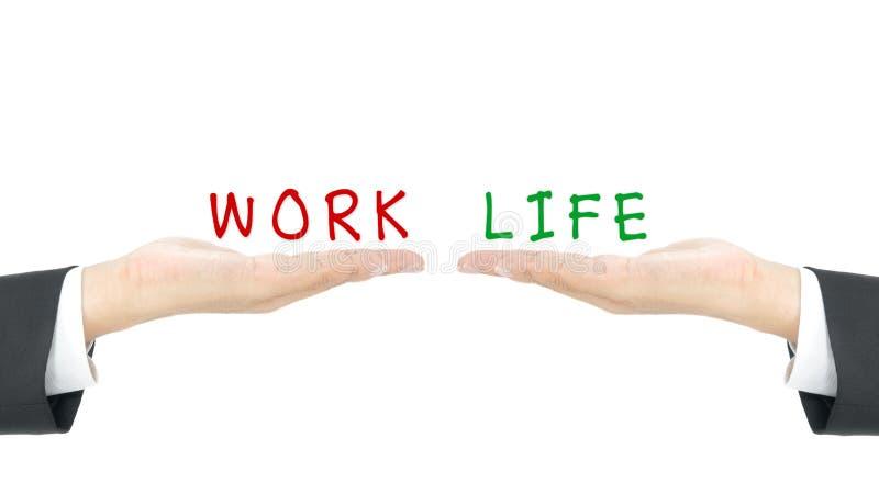 Arbete och liv balanserar arkivbilder