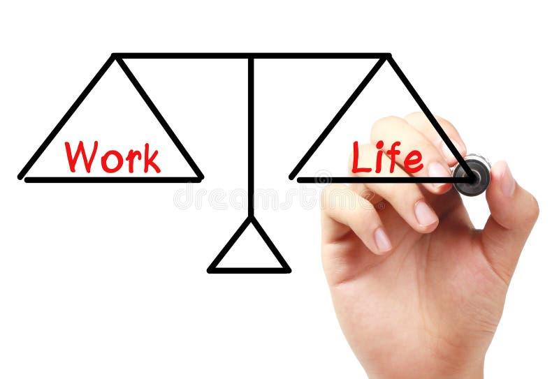 Arbete och liv balanserar royaltyfri foto