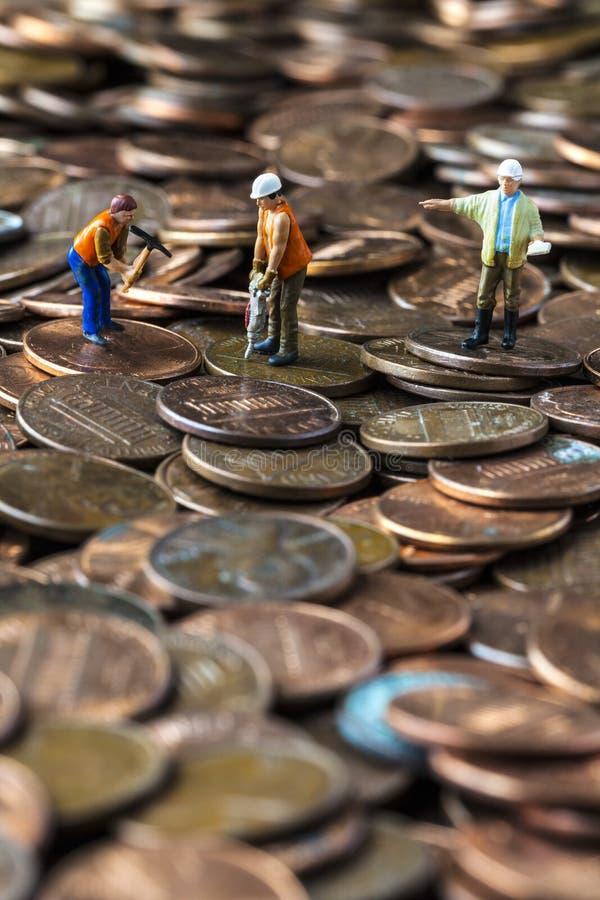 Arbete på ekonomin royaltyfria foton