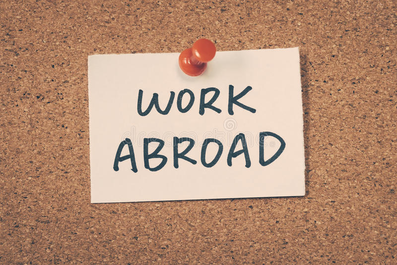 Arbete utomlands arkivfoto
