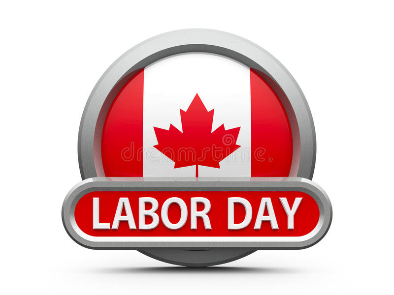 Arbets- dag i Kanada symbol 2 stock illustrationer