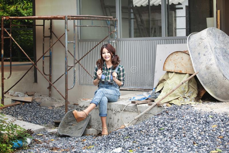 Arbets- kvinnor fotografering för bildbyråer
