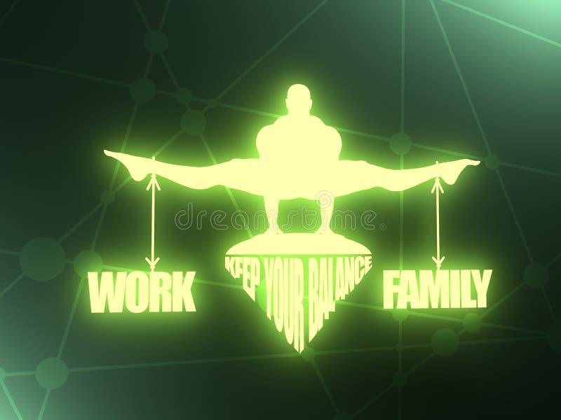 Arbets- och familjjämvikt royaltyfria foton