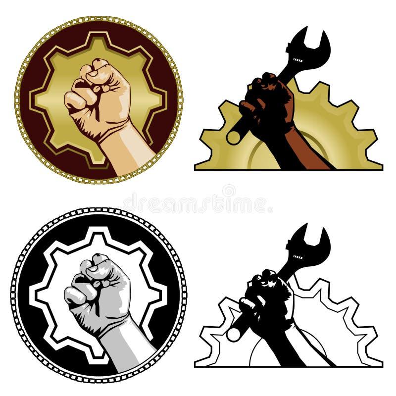 arbets- symboler royaltyfri illustrationer