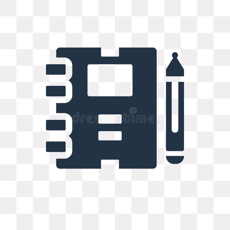 Arbetsbokvektorsymbol som isoleras på genomskinlig bakgrund, Workboo vektor illustrationer