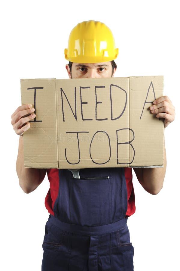 arbetslös arbetare arkivbild
