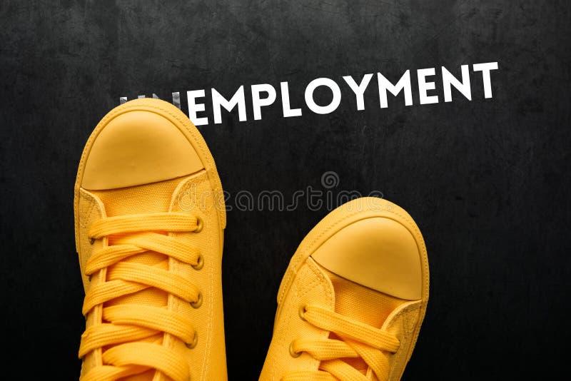 Arbetslöshetbegrepp arkivbild