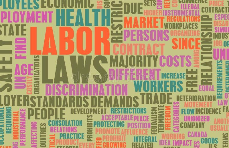 arbetsmarknadslagstiftningar royaltyfri illustrationer