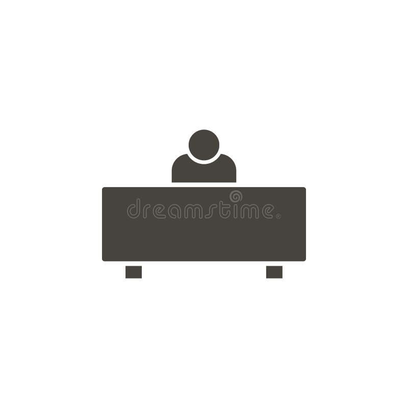 Arbetsplats anv?ndarevektorsymbol Enkel best?ndsdelillustrationWorkplace, anv?ndarevektorsymbol : royaltyfri illustrationer