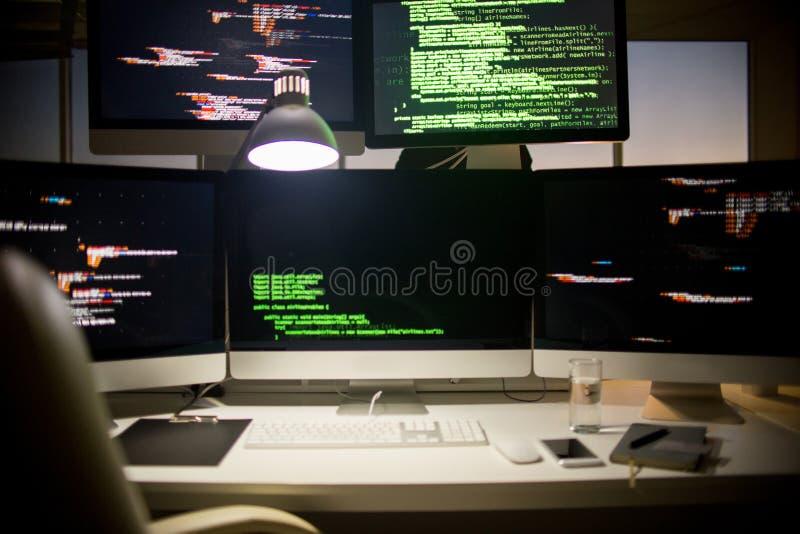 Arbetsplats av programvarubärare royaltyfri foto