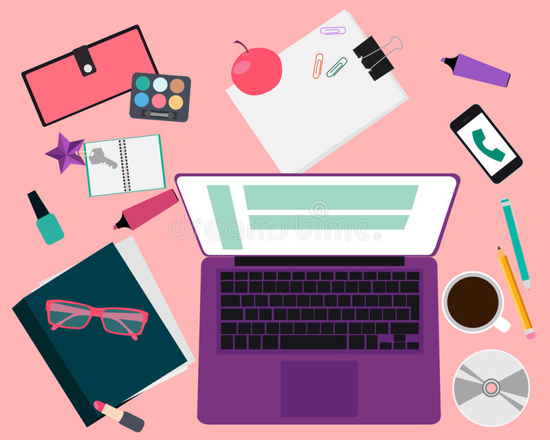 Arbetsplatskvinnor vektor illustrationer