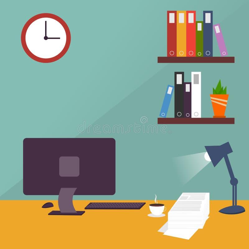 Arbetsskrivbordvektor arkivfoton