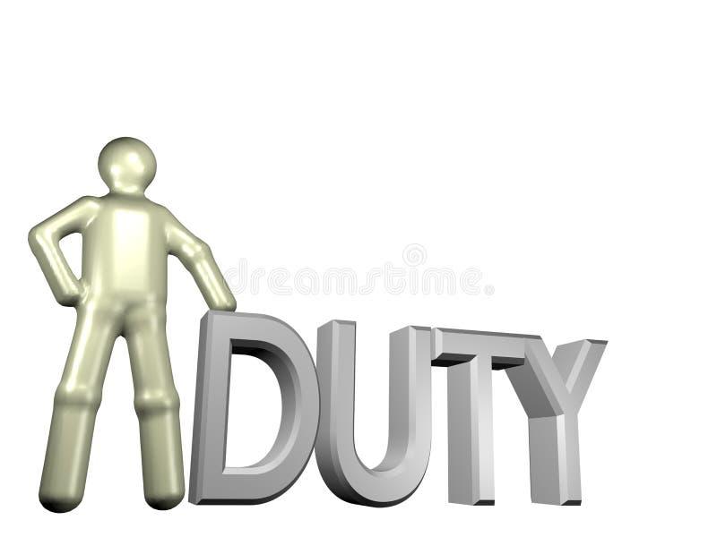 arbetsuppgift royaltyfri illustrationer