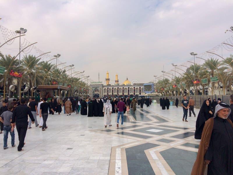 Arbiana-Wanderung, eine große globale Versammlung, Moslems auf der ganzen Welt, Millionen Frauen und Männer, eine religiöse Be lizenzfreie stockfotografie