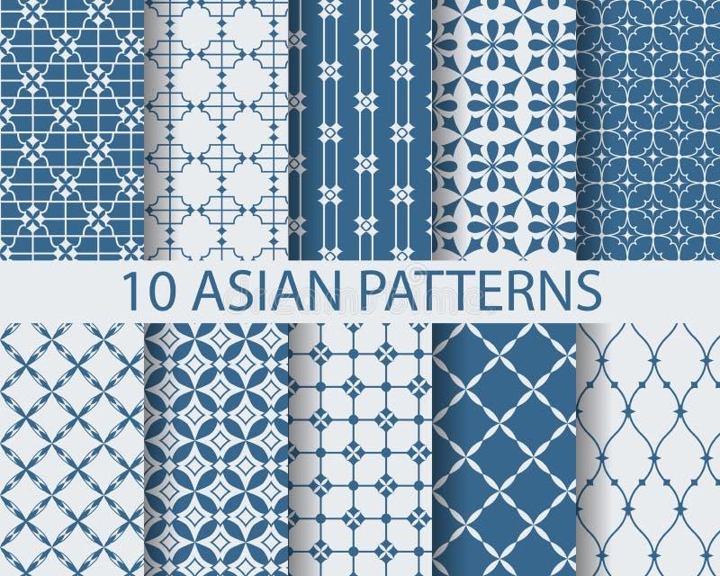 10 arbic patronen stock illustratie