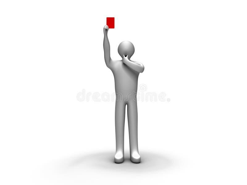 arbitra karciany czerwony seans ilustracja wektor