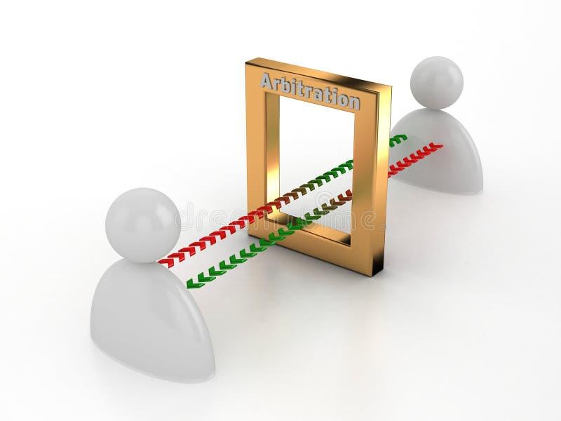 Arbitrage   Modérant ce qui est dit et demandé ! illustration de vecteur