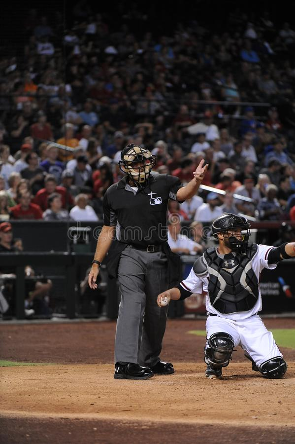Arbitre de base-ball images libres de droits